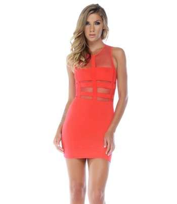 Robe illusion bodycon Moulante Rose